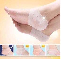 Moisturising Socks Australia - Heel Cracked Foot Care Protectors Tool Socks Silicone Moisturising Gel Socks Foot Care Tool Foot Skin Care Protectors KKA2887