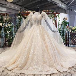 $enCountryForm.capitalKeyWord Australia - 2019 latest bohemian wedding dresses Halter sleeveless backless long lace shawl sequins crystal beaded pattern ball gown wedding dresses new