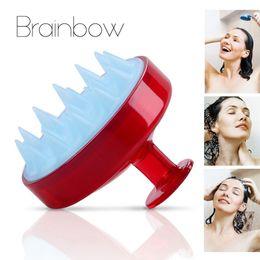 $enCountryForm.capitalKeyWord Australia - Styling Tools Combs Brainbow 1 piece Shampoo Comb Silicone Teeth Hair Scalp Soft Massage Brush Hair Washing Comb Body Bath Massager Beauty