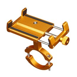 Universal aluminium fahrrad motorrad telefon stehen für 5-15 cm breite smartphone unterstützung fahrrad einstellbar lenker legierung halter halterung