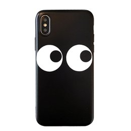 eyes case silicone UK - Personality Cute Phone Case for Iphone 8 X 6 7 Plus Big Eyes Soft Silicone Creative Back Case
