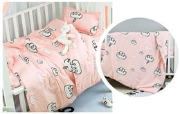 baby pillow bedding sets Canada - Promotion! 3PCS New Arrive baby bedding set bed linen baby duvet cover Crib Bed Cot Set ,Duvet Cover Sheet Pillow Cover,