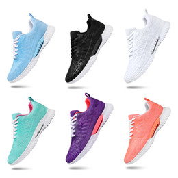 Hot Whole Sale Men Women sports running shoes black white sky blue mesh breathable shoes sports sneakers size 36-45 free shipping on Sale