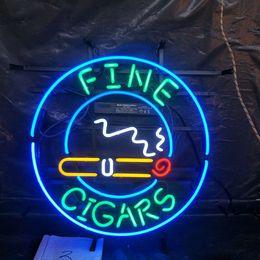 $enCountryForm.capitalKeyWord Australia - FINE CIGARS Neon Sign Light Restaurant Bar Advertising Entertainment Decoration Art Display Real Glass Lamp Metal Frame 17'' 24'' 30''40''