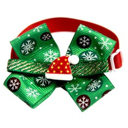 SeaSon Set online shopping - New Christmas Dog Bow Ties Pet Ornament Pet Bow Tie With Bell Collar Dog Cat Puppy Accessories