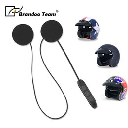 $enCountryForm.capitalKeyWord Australia - Half helmet Earphone Speaker Microphone Clip Motorcycle Helmet Bluetooth headphone