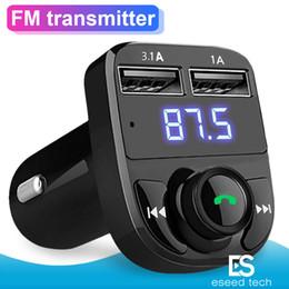 $enCountryForm.capitalKeyWord Australia - FM Transmitter Aux Modulator Wireless Bluetooth Handsfree Car Kit Car Audio TF Card Port 3.1A Quick Charge Dual USB Car Charger