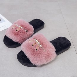 Discount man warmer shoes for winter - MoneRffi 2019 Home Slippers Woman Soft Plush Shoes Pantufa Coral Velvet Warm Shoes For Women Winter Indoor Cotton Slippe