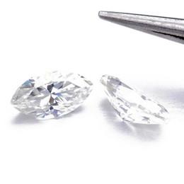 Venta al por mayor de Venta al por mayor Marqueise Brilliant Cut Moissanite Piedras sueltas VVS1 Excelente Corte Prueba de grado Positive Lab Diamond para hacer anillos Joyería