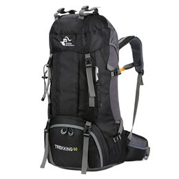 New Camping Backpacks Australia - New 60L Outdoor Backpack Camping Climbing Bag Waterproof Mountaineering Hiking Backpacks Molle Sport Bag Climbing Rucksack