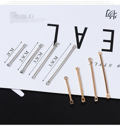 ear connector NZ - 2019 500 Pcs zinc alloy connector jewelry finding Double hole Hanging rod Earrings Ear Clip Ear Hook jewelry making accessories