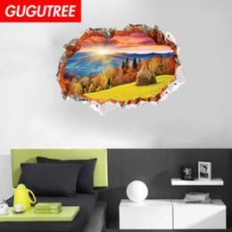 $enCountryForm.capitalKeyWord Australia - Decorate home 3D scenery cartoon art wall sticker decoration Decals mural painting Removable Decor Wallpaper G-858