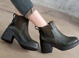 ankle chain pumps Australia - 2019 Latest Women Leather Flat Boots, Classic Jumble Ankle Boot Lady Casual Shoes in Clafskin High heel Pumps with Box Size 35-41 z24