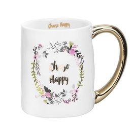 6f981ae7f48 400ml Gold love couple ceramic mugs,ceramic mugs for close friends, Office  school mugs Coffee Mug Cup Teapot tea set Drinkware