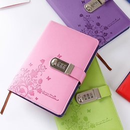 $enCountryForm.capitalKeyWord Australia - New Personal Diary With Lock Code Leather Notebook Paper 100 Sheets A5 Notepad Stationery Products Office Shool Supplies Gift
