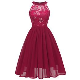 $enCountryForm.capitalKeyWord NZ - Women Summer Sexy Lace Backless Sleeveless Casual Dresses Halter 2019 Elegant Mini Evening Party Dresses Sundress Halter Elegant Dresses