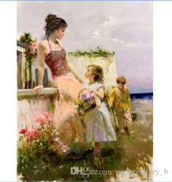 "$enCountryForm.capitalKeyWord NZ - High Quality PINO ""BASKET OF LOVE"" Handpainted & HD Print Impressionist Art oil painting,Home Decor Wall Art On Canvas Multi Sizes p72"