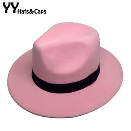 Felt Trilby Hat Australia - Retro Fedora Hats For Male Winter Felt Caps Wide Brim Panama Hat for Women Winter Vintage Trilby Caps Sombrero de Hombre YY18017 D19011102