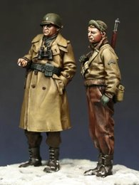 $enCountryForm.capitalKeyWord NZ - Free shipping 1 35 Resin Figures U.S. Infantry Officer and NCO Unassembled unpainted J142
