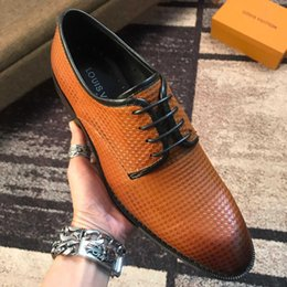 french shoes brands 2019 - New French brand men's dress shoes high quality cowhide breathable men's banquet dress casual shoes free shipp