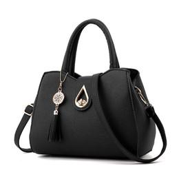 Dark Red Ladies Handbags Australia - good quality Fashion New Tassel Women Message Bags Brand High Quality Handbag Sweet Girls Bolsos Tote Ladies Shoulder Shell Bag Bolsa