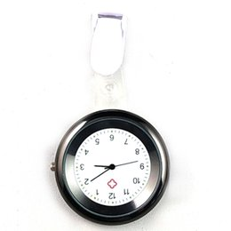 Nurses Fob Watches Clip Australia - Nurse Watch Brooch Silicone Clip Infection Control Design Nurse Doctor Paramedic Brooch Fob Watch FS99