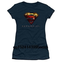 clear tv 2019 - Funny Men t shirt white t-shirt tshirts Black tee Warner Bros. Supergirl TV Series Logo Glare Navy Juniors T-Shirt cheap