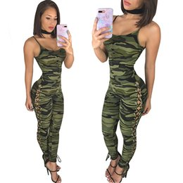 one piece spandex clothes UK - YD One Pieces Sleeveless Camouflage Jumpsuit Yoga Suit Sexy Women Compression Sport Clothing Quick Dry Women Yoga Set Finess #256569