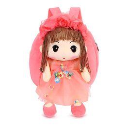 $enCountryForm.capitalKeyWord UK - Lovely Doll Plush Schoolbag Backpack Bag Plush Toy Storage Organizer School Bags For Girls Kid Children Bag Schoolbags Backpacks