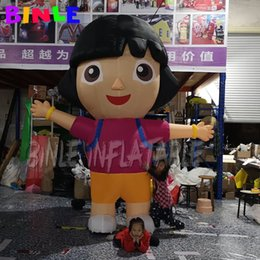 inflatable for event party decoration Australia - Customized 3m 6m lovely inflatable dora inflatable girl cartoon chracters for kids party event decoration