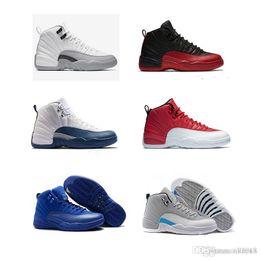 finest selection a0573 2e2f3 nike air jordan 12 AJ 12 NUOVO 2018 Economici 12 XII Mans Scarpe Da Basket  Sneakers Donne Taxi Playoff Gamma Blu Grigio Sport Scarpe Da Corsa Per gli  uomini ...