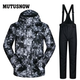 Winter Snow Suits Australia - MUTUSNOW Men Ski Suit Brands New Windproof Waterproof Breathable Clothes Skiing Snowboarding Suits And Pants Snow Winter Male Ski jacket Men