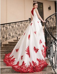 $enCountryForm.capitalKeyWord Australia - wedding dresses long tail skirts new style print lace modern beautiful wedding dress De Mariee Plus