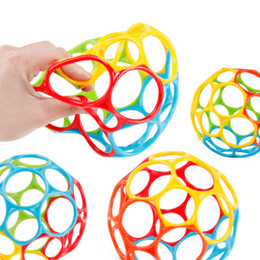 soft toys materials NZ - Baby Kids Educational Toys Rattles Ball For Newborn Children Cribs Stroller Soft Safety Bite Materials Grasping Holes Novelty Games