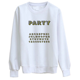 $enCountryForm.capitalKeyWord NZ - Hillbilly J-959 Sweatshirt Letter Party Simple Print Lady Polyester Hoodies Personality Lady White Round Collar Cotton Shirt