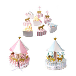 romantic pink wedding party decorations NZ - 2018 Romantic Carousel Candy Box Wedding Favors and Gifts Souvenir for Guest Party Favors Gift Candy Box Wedding Decorations