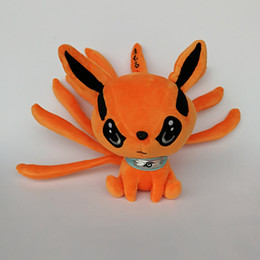 """Naruto Animals Canada - Hot Sale 9.5"""" 25cm Naruto Nine-tales Fox Plush Doll Stuffed Toy For Child Best Gifts"""