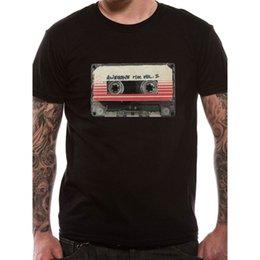 $enCountryForm.capitalKeyWord Australia - Men's Guardians Of The Galaxy Vol 2 Tape Black T-shirt T Shirt O - Neck Fashion Casual High Quality Print T Shirt