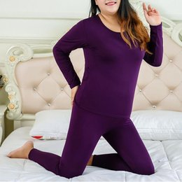 Plus Size XL-6XL Thermal Underwear Women long johns girls Winter Thermo Clothing Ladies Pajamas Thermos Set Slim Shaper Female on Sale