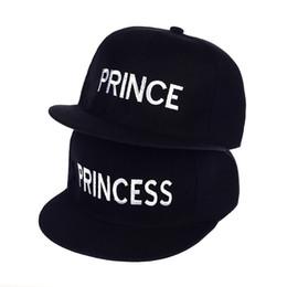 4b62b0ad3b308 Hot Sale PRINCE PRINCESS Embroidery men women Snapback Hat Couple Baseball  Cap friend Gifts For Fashion Hip-hop Caps