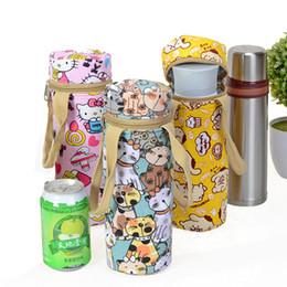 $enCountryForm.capitalKeyWord UK - IVYYE Rilakkuma KT Cat Fashion Portable Canvas Lunch Bags Cartoon Water Bottle Bag Bottles Tote Warm Storage Women Girls New
