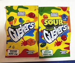 resealable zipper plastic packaging Australia - 2020 new gushers gummy packaging bag 500mg sour gushers edibles mylar smell proof zipper resealable bag plastic three size seal