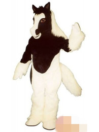 Wholesale pony costumes for sale - Group buy Custom Black and white pony mascot costume Adult Size