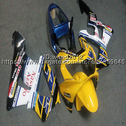 929 Motorcycle Australia - 23colors+5Gifts Injection mold yellow white motorcycle Fairings hull for HONDA CBR929RR 2000-2001 CBR 929 RR 00 01 ABS motor panels