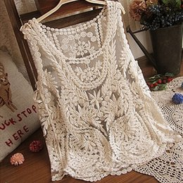 $enCountryForm.capitalKeyWord Australia - Quality Good Womens Tanks Sleeveless Lace Tank Top Sexy Embroidery Hollow-out Floral Crochet Shirt woman clothes