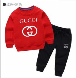 babies apparel UK - In stock 2019 Baby Clothing Sets Boys Toddler Hoodies Tops Pants 2Pcs Set Autumn Cotton Infant Apparel Boutique Clothes Outfits T5230