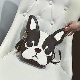 Printed Lady Handbag Cartoon NZ - Sweet Lady Handbag 2019 Fashion New Female Bag Quality Pu Leather Women Bag Cartoon Print Dog Shoulder Bags Animal Messenger Bag