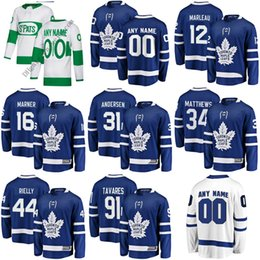 Men Women Kids Youth Custom St. Pats Toronto Maple Leafs 34 Matthews 91  Tavares 29 William Nylander 43 Nazem Kadri Hockey Jerseys Blue White 6d59a02e4
