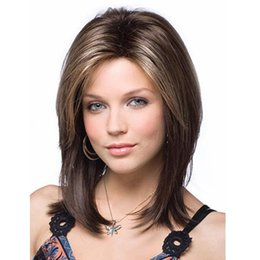 Discount bobo fashion - Free Shipping 14inches Fashion Women Natural Short Full Lace Front Wigs Cute Bobo Human Hair Cosplay Wig Synthetic hair