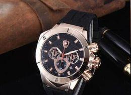 Men Sports Racing Watch Australia - men Chronograph Quartz Watch Men Lamborghini Tachymetre Men Sport Racing Rose Gold case Rubber Wristwatch